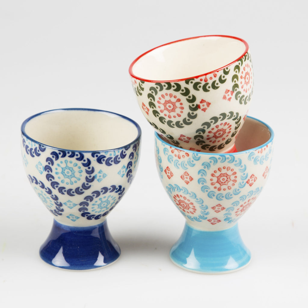 boho egg cup navy also available in blue and red