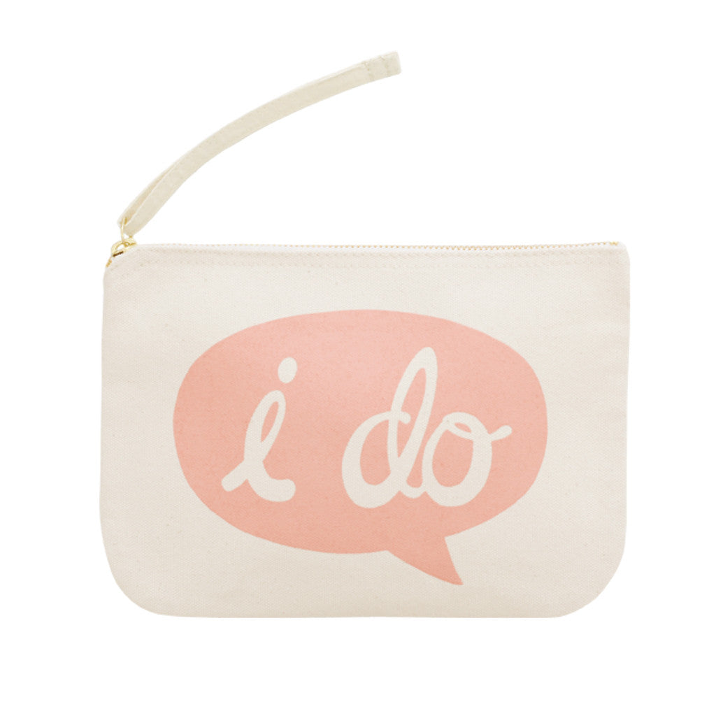 i do small canvas pouch pink accessories