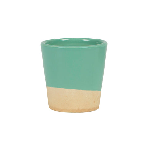 Green Dip Glaze Mini Planter
