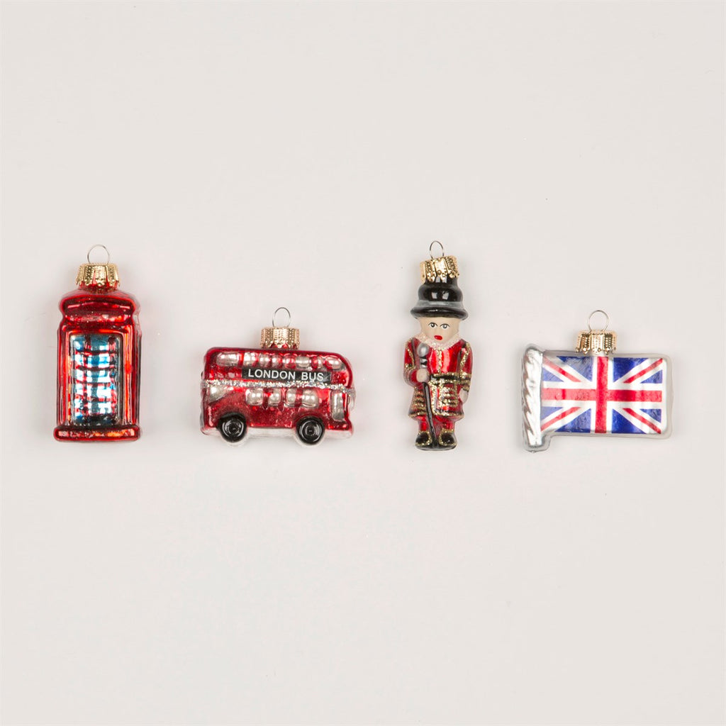 London Set Of 4 Baubles
