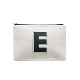 large letter pouch E canvas accessories