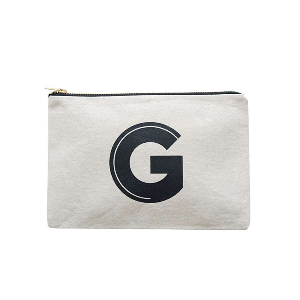 large letter pouch G canvas accessories