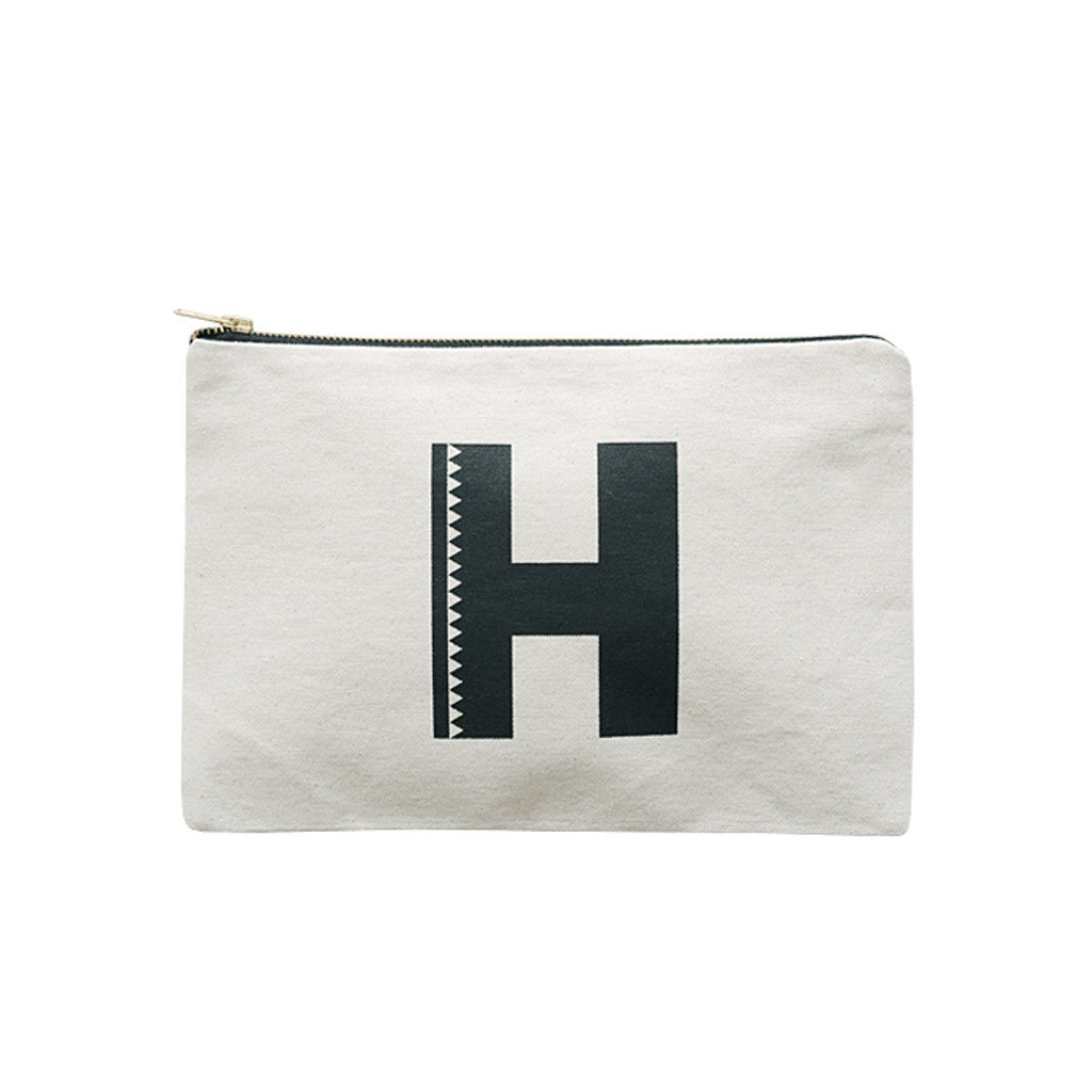 large letter pouch H canvas accessories