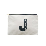 large letter pouch J canvas accessories