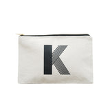 large letter pouch K canvas accessories