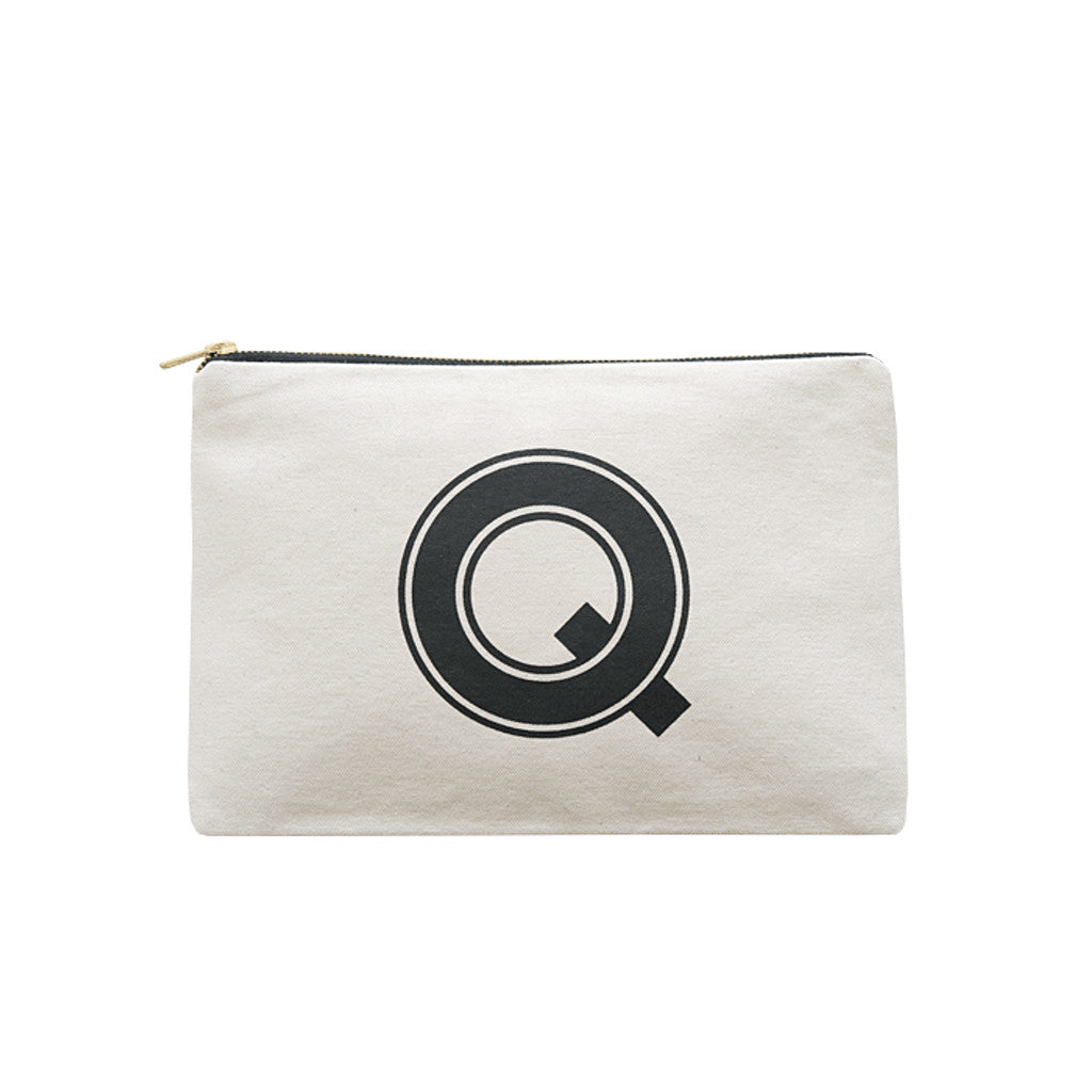 large letter pouch Q canvas accessories