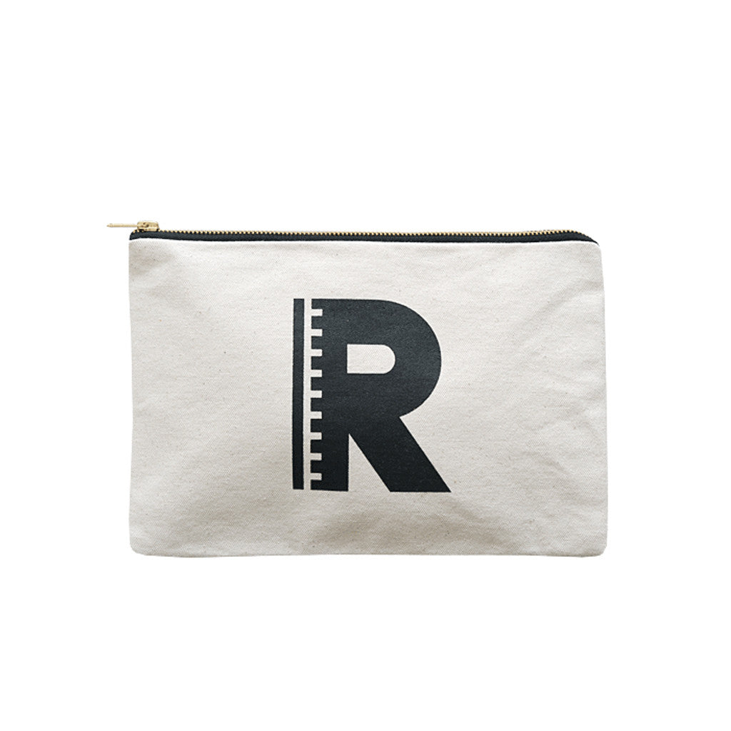 large letter pouch R canvas accessories
