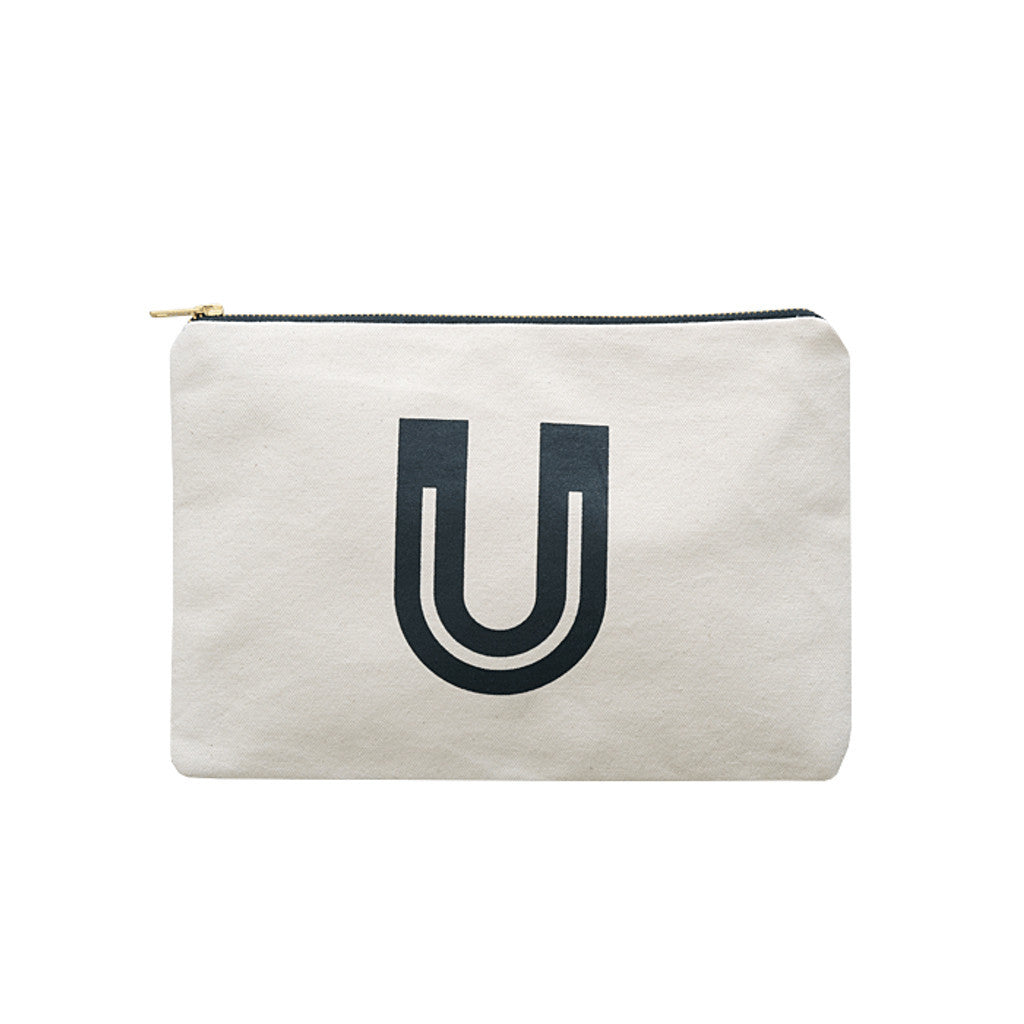 large letter pouch U canvas accessories