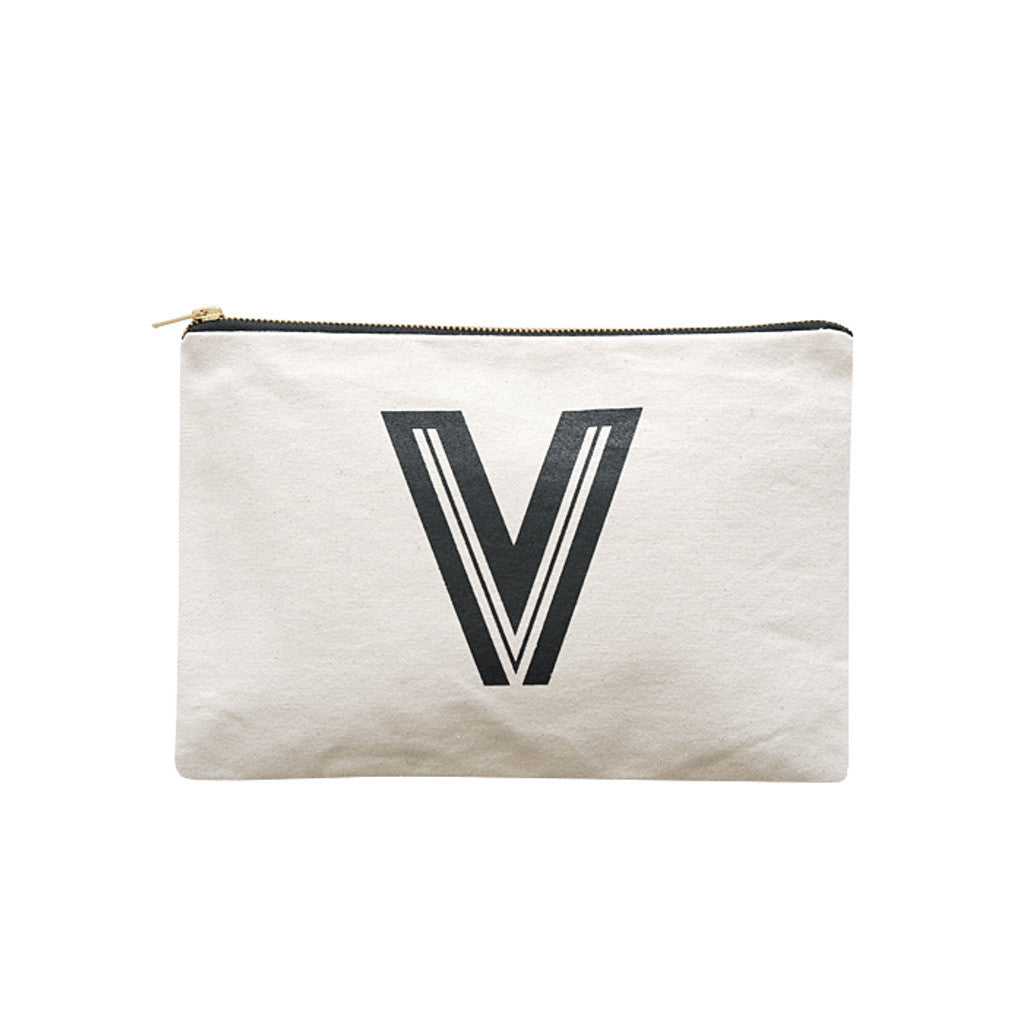 large letter pouch V canvas accessories