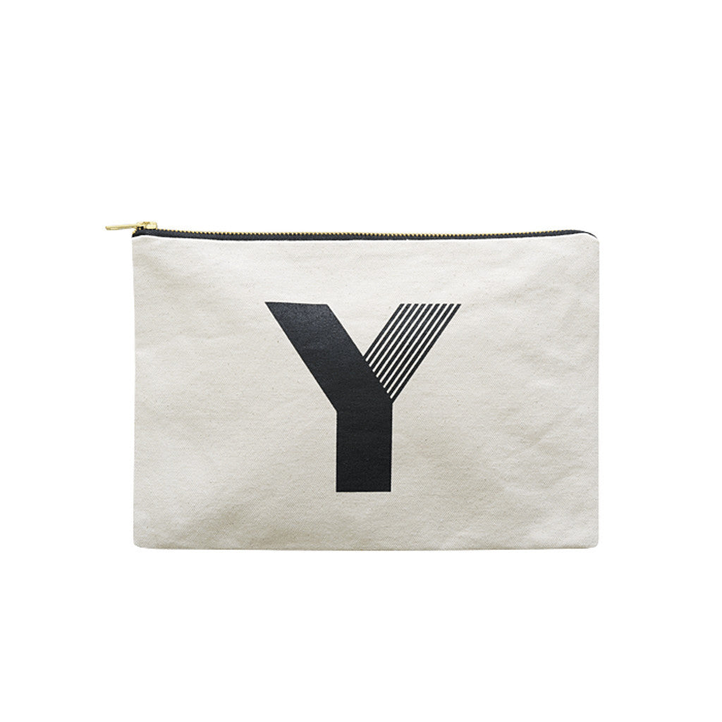 large letter pouch Y canvas accessories