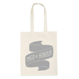maid of honour canvas bag grey accessories