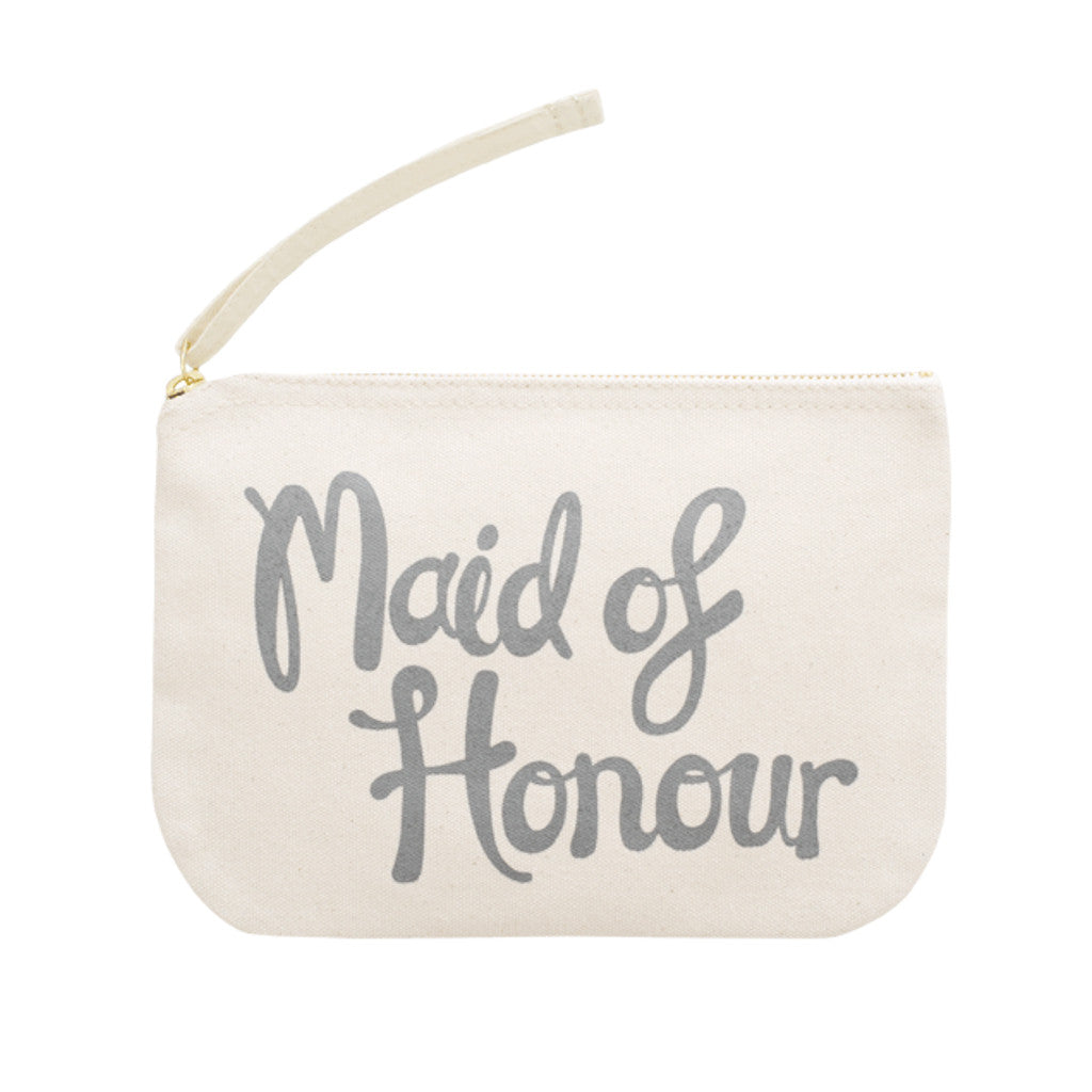 maid of honour canvas pouch grey accessories