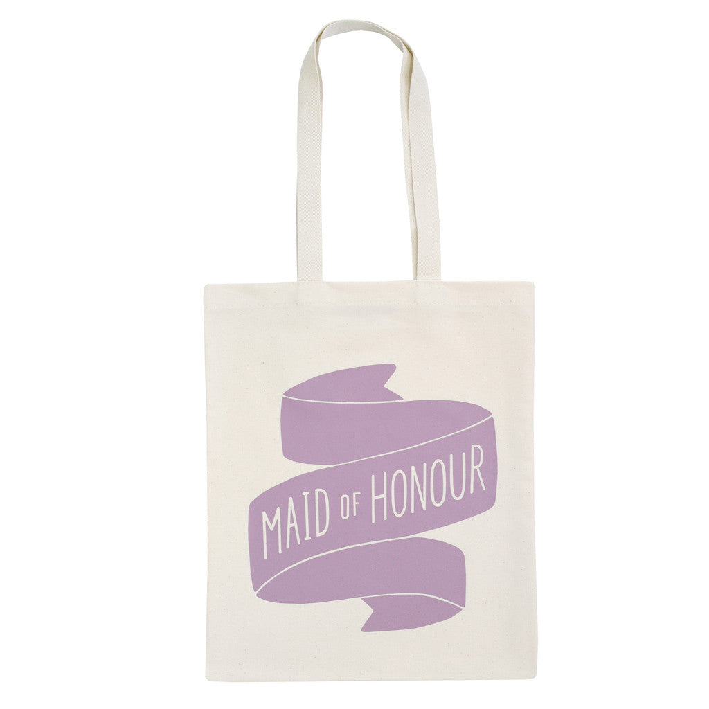 maid of honour canvas bag lavender accessories