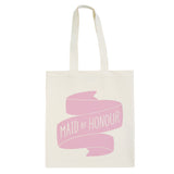 maid of honour canvas bag rose accessories