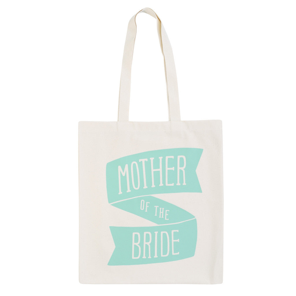 mother of the bride canvas bag mint accessories