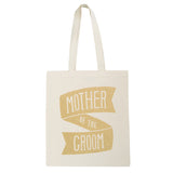 mother of the groom canvas bag gold glitter accessories