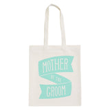 mother of the groom canvas bag mint accessories