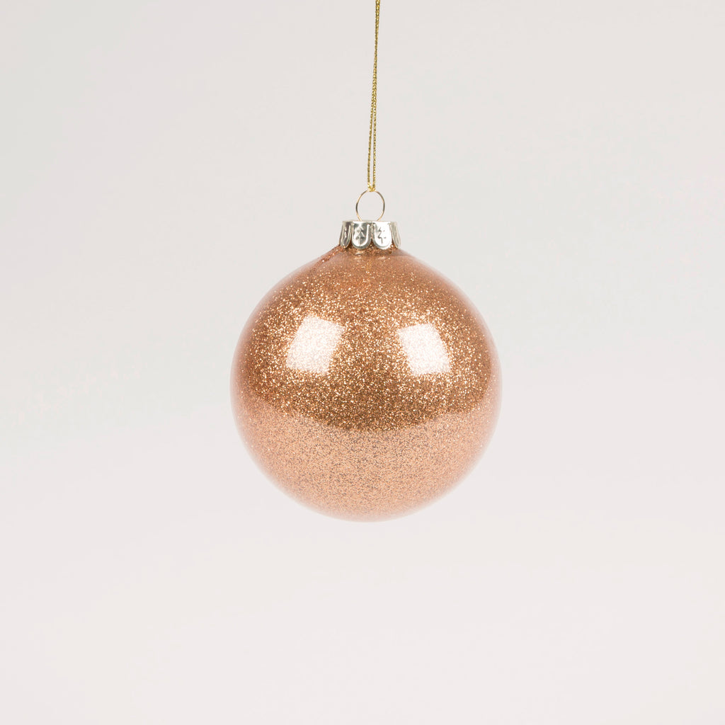 Copper Glitter Bauble