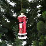 Red Glass Letterbox Bauble