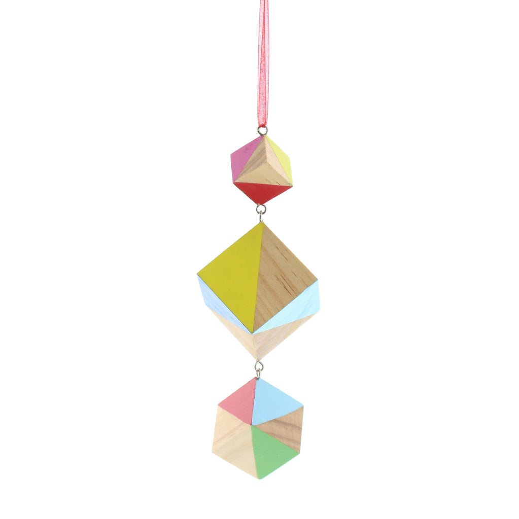 Wooden Cubes Geometric Hanging Decoration