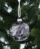 Grey Marble Glass Bauble