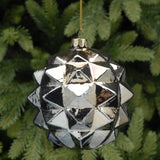 Metallic Spikey Blue Large Bauble