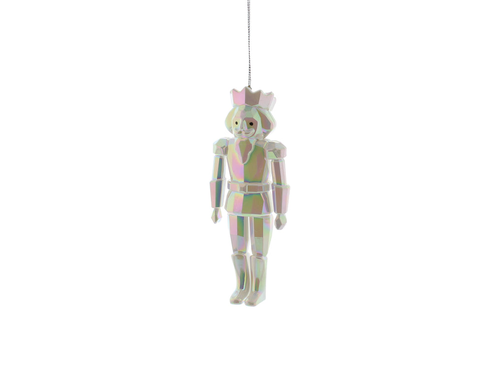 Iridescent Nutcracker Hanging Decoration
