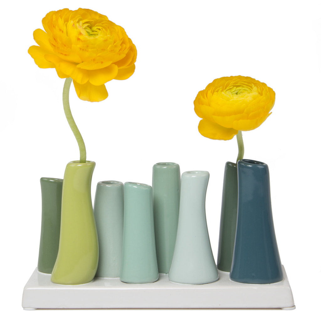 pooley tube vase chartreuse homeware