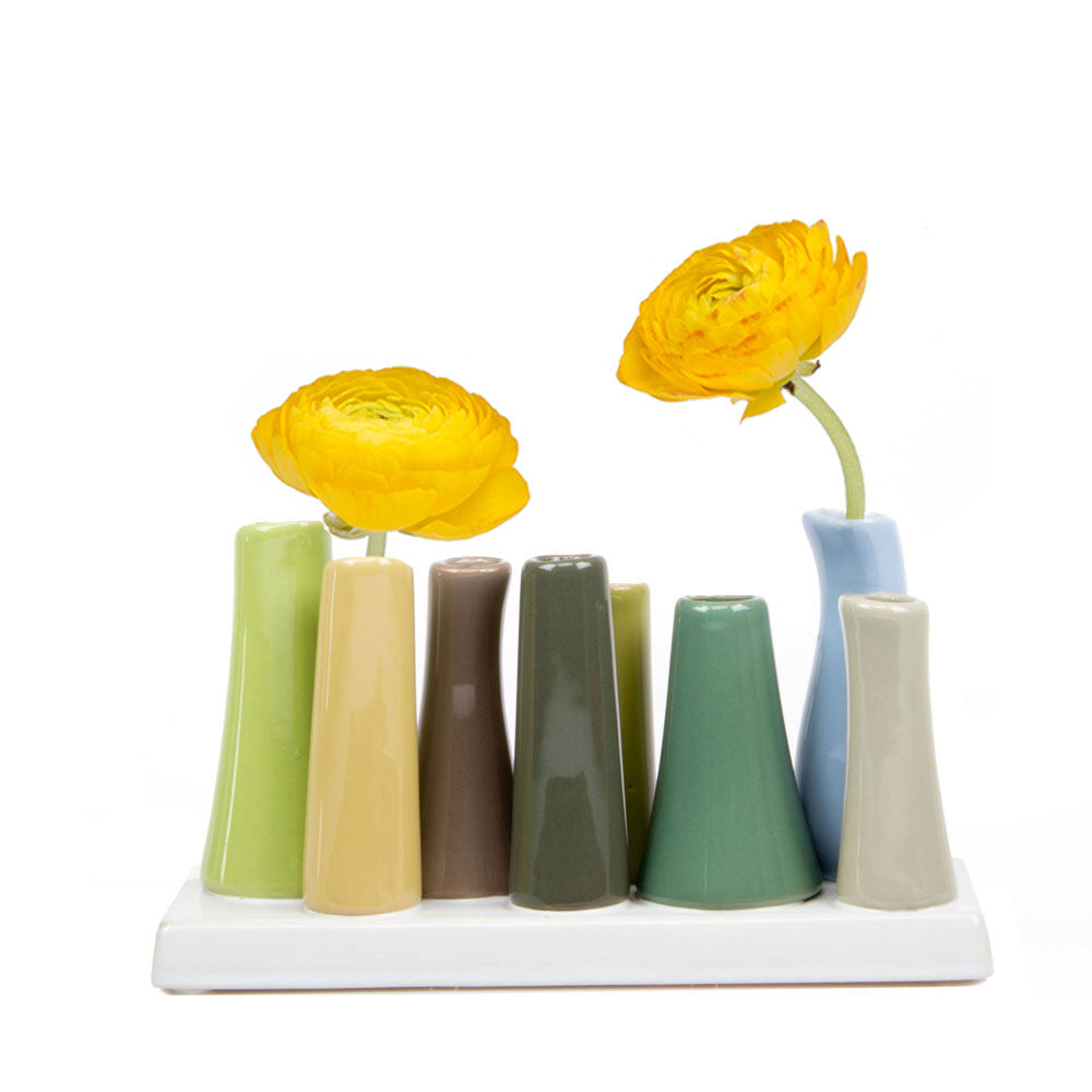 pooley tube vase lime homeware