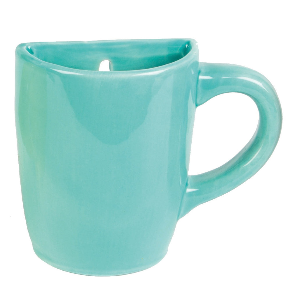 wall mounted mug vase in blue