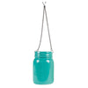 hanging mason jar vase blue