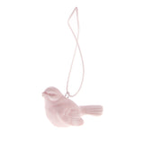 Ceramic Robin Hanging Decoration Pink
