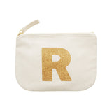 letter glitter pouch R canvas accessories