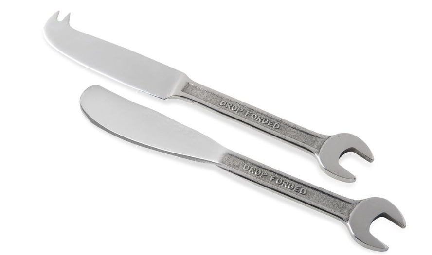 Spanner Cheese And Butter Knife Set