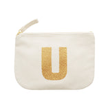 letter glitter pouch U canvas accessories