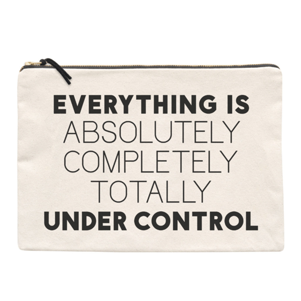 under control travel pouch canvas accessories