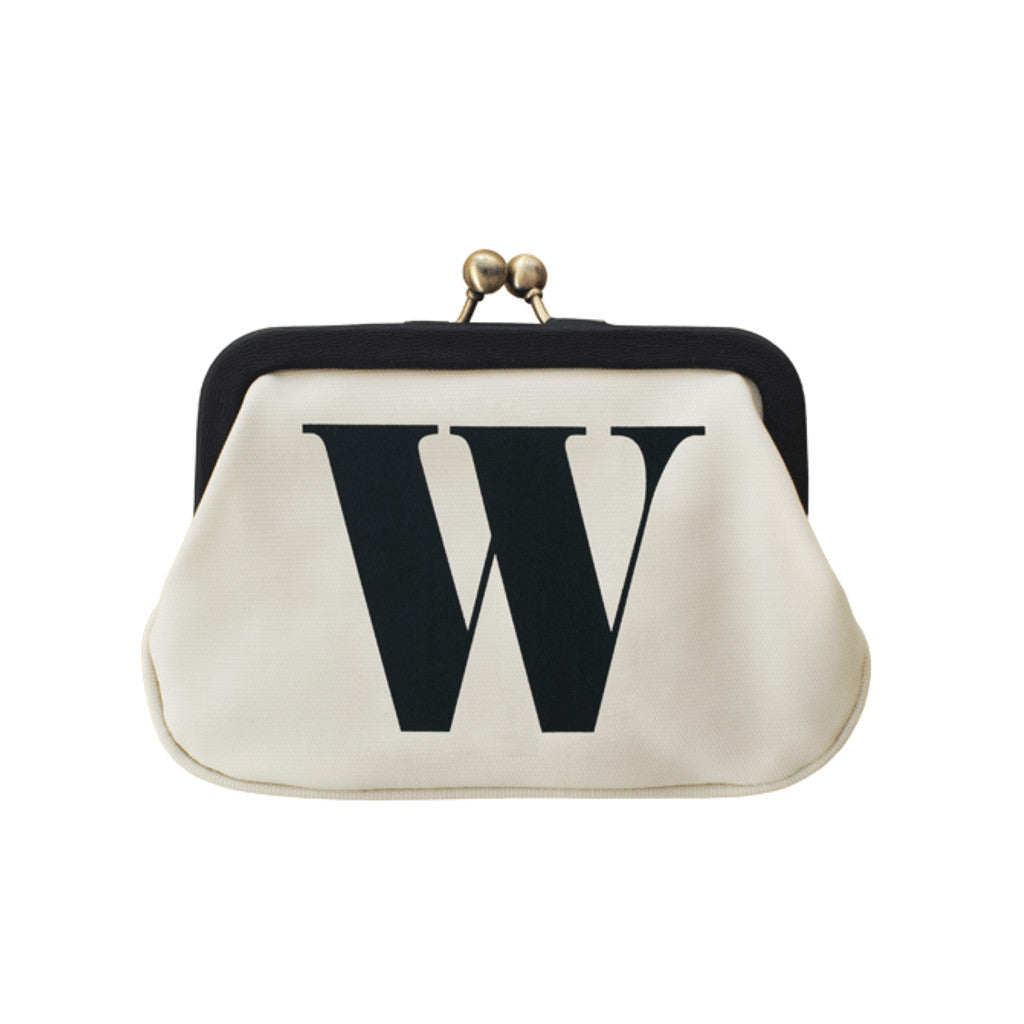 letter W coin purse accessories