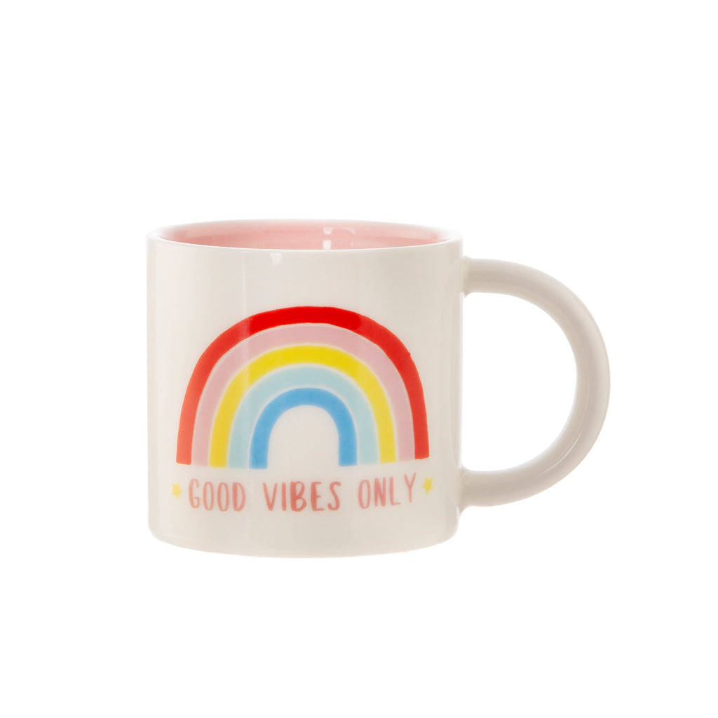 Rainbow Good Vibes Only Mug