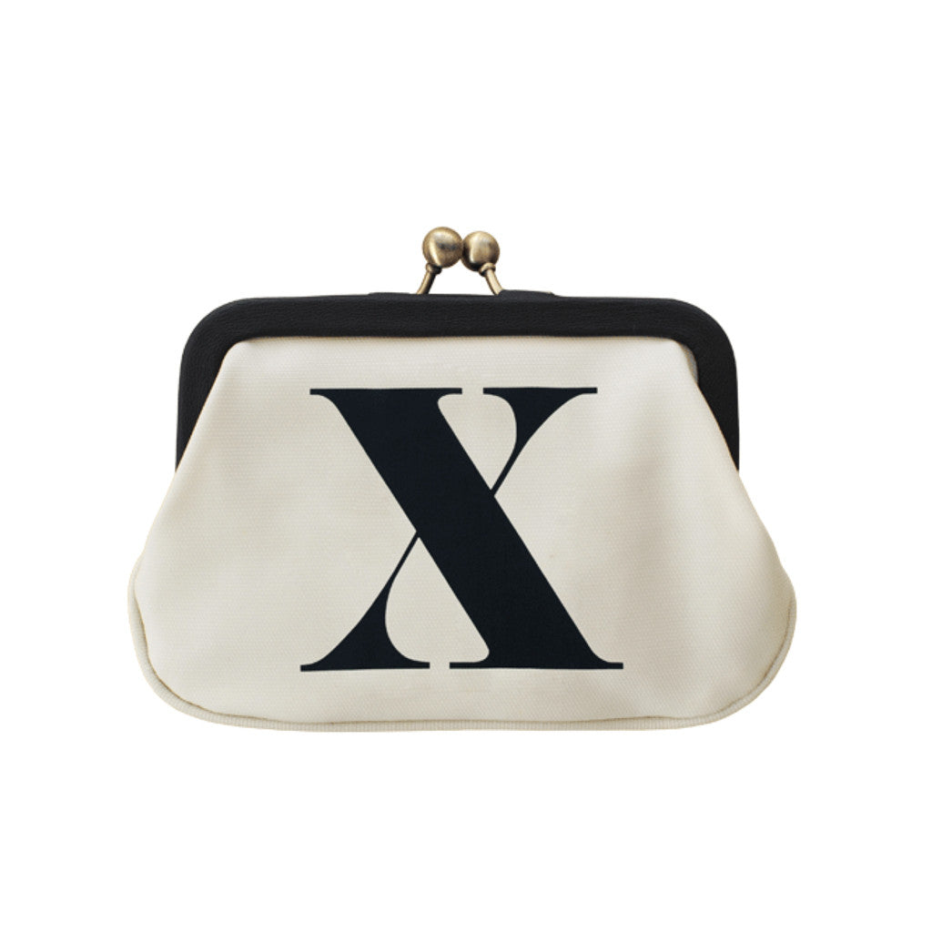 letter X coin purse accessories