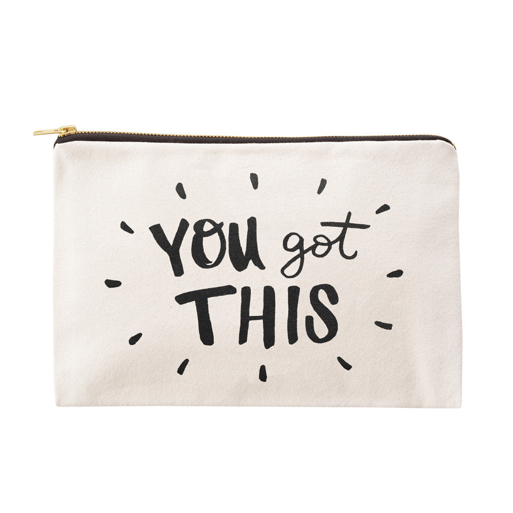 you got this large canvas pouch accessories