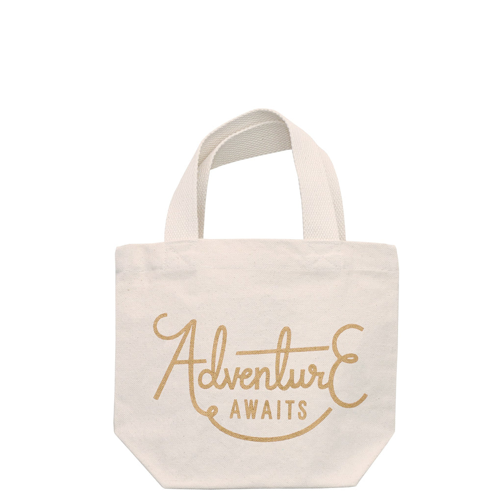 Adventure Awaits Mini Canvas Bag With Handle