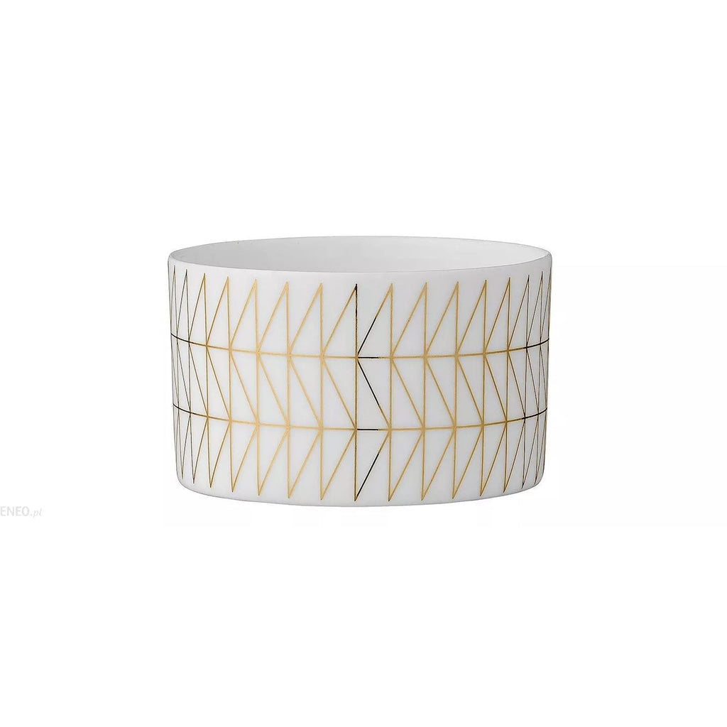 White And Gold Large Tealight Holder