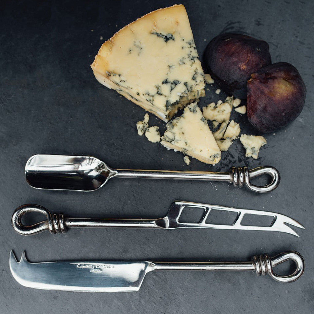 knot set of 3 cheese knife (soft, hard and stilton scoop) tableware