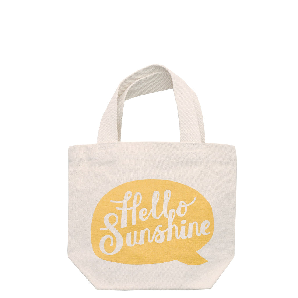 Hello Sunshine Mini Canvas Bag With Handle