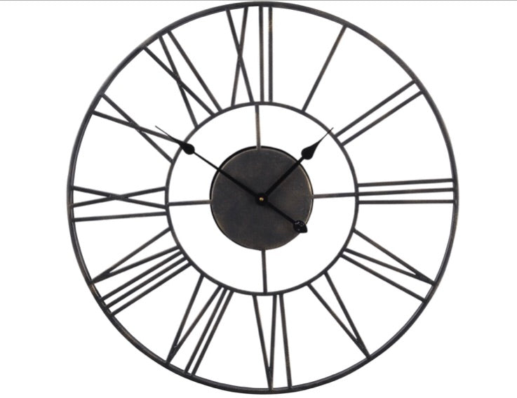 Skeleton Black Clock Outdoor