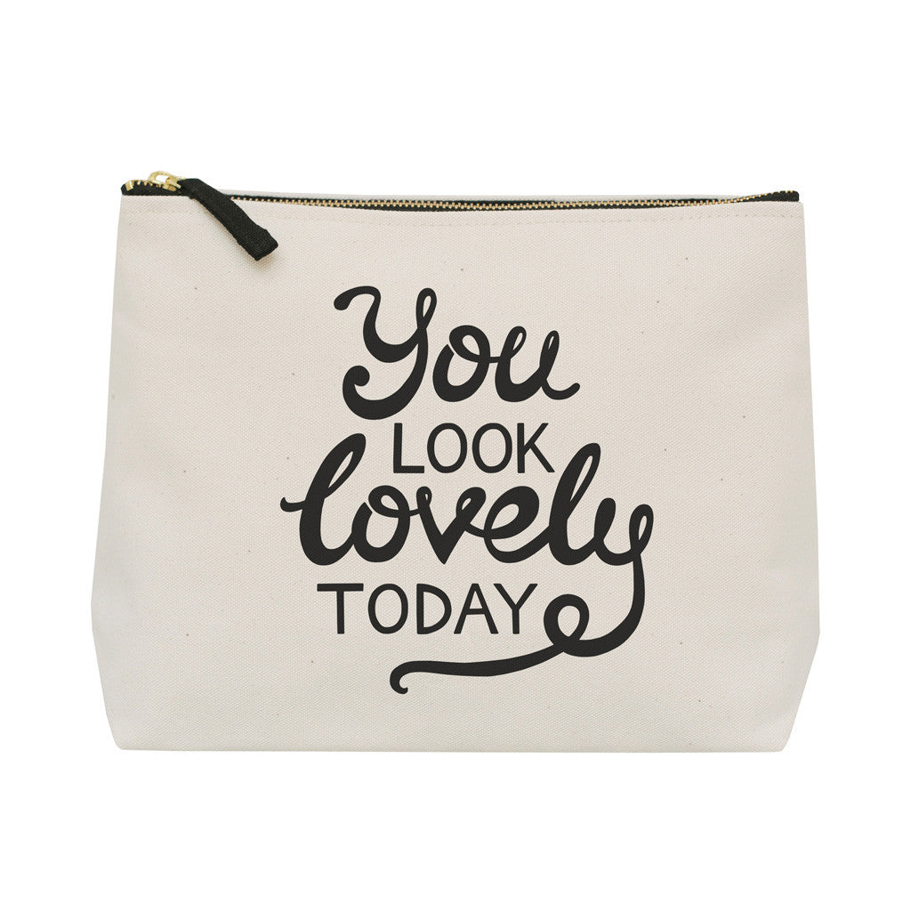you look lovely today wash bag canvas accessories