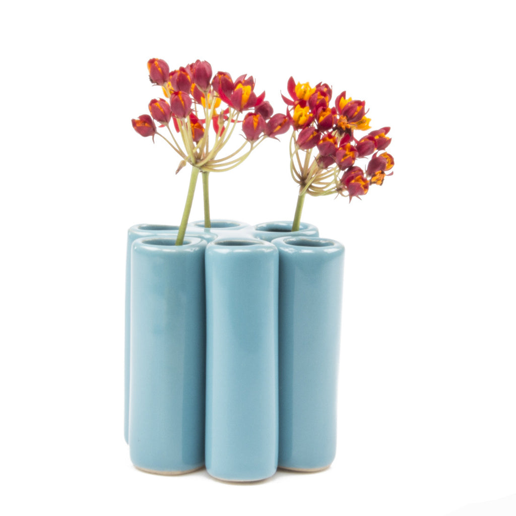 puzzle pooley vase baby blue homeware