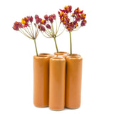 puzzle pooley vase orange homeware