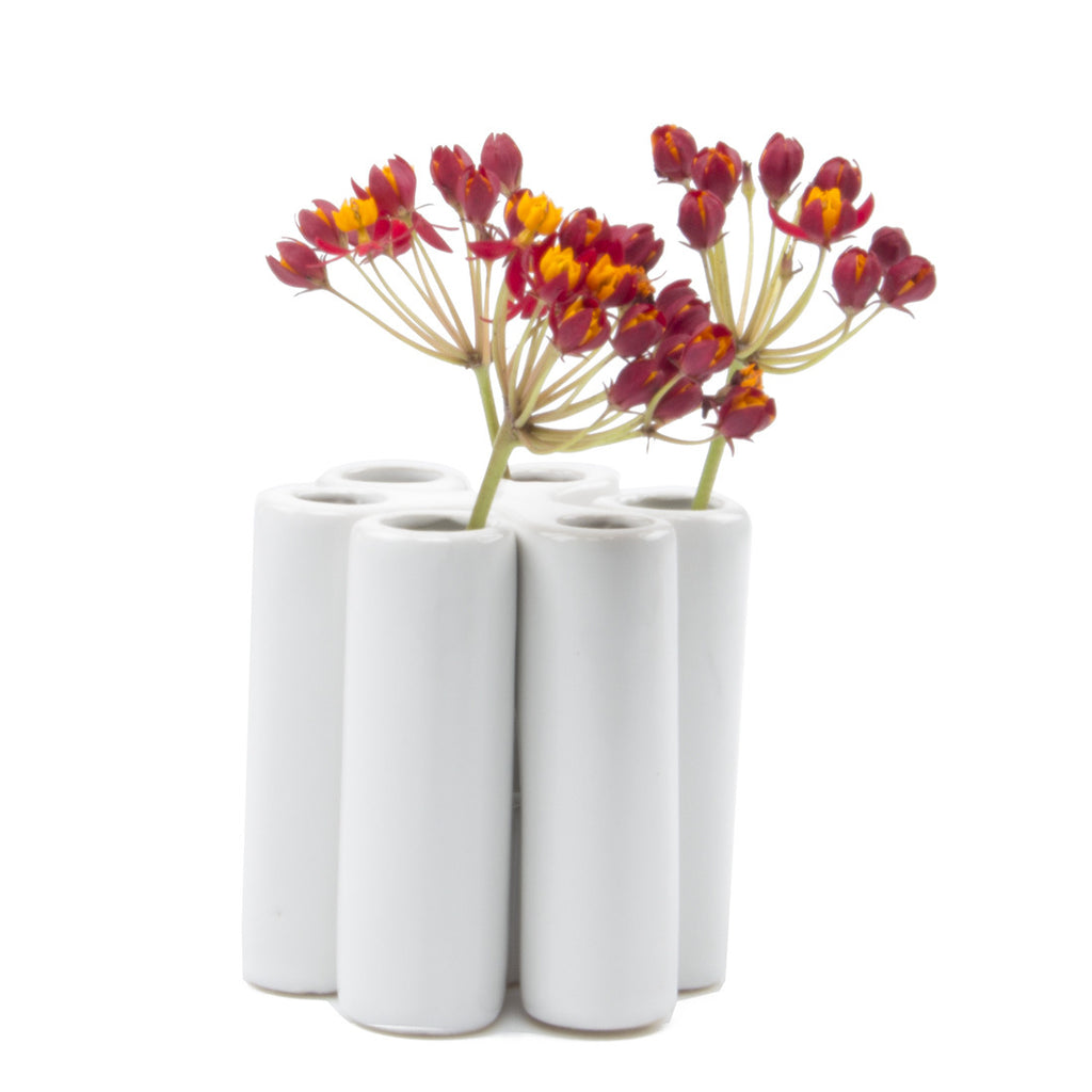puzzle pooley vase white homeware