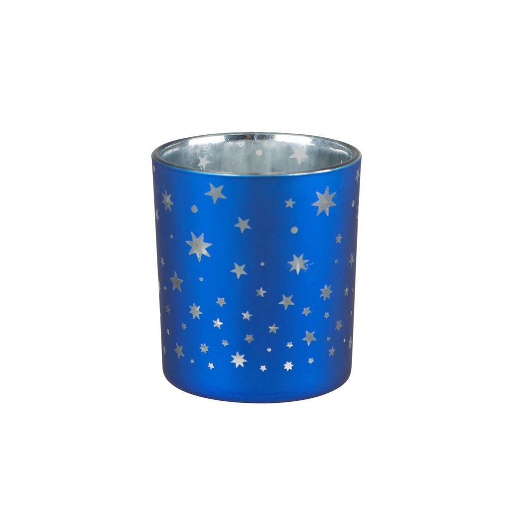 Stars Blue Tealight Holder